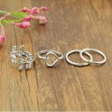 Silver Knuckle Rings (4 pieces)