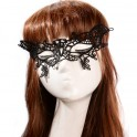 Lace Half Face Mask - Butterfly - Black