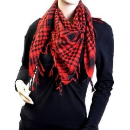 Black & Red Shemagh Scarf