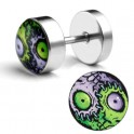 Stainless Steel Faux Ear Plugs (pair) - Zombie Yin Yang