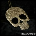 Bronze Large Skull Pendant Necklace