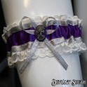 Madame Squelette Cameo Wedding Garter - Medium
