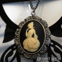 Lady Cameo on Gun Metal Chain