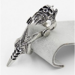 [Special Order Skull Armour Ring Silver