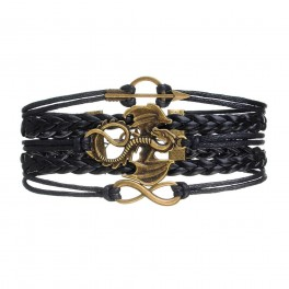 Dragon Multilayer Faux Leather Braided Bracelet