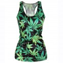 Weed Leaves Tank Top - One Size